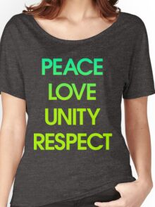 Peace Love Unity Respect (PLUR) Women's Relaxed Fit T-Shirt