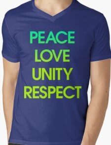 Peace Love Unity Respect (PLUR) Mens V-Neck T-Shirt