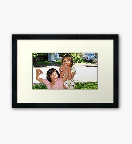 Silly Girls Framed Print