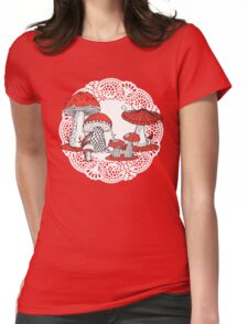 Vintage Toadstools Womens Fitted T-Shirt