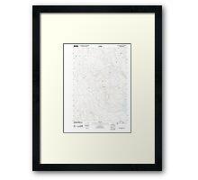 USGS Topo Map Oregon Upton Mountain 20110831 TM Framed Print