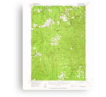 USGS Topo Map Oregon Red Butte 282825 1955 62500 Canvas Print