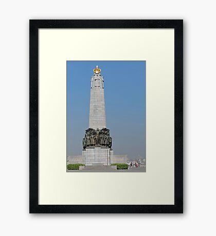 Belgian National Infantry Memorial, Brussels Framed Print