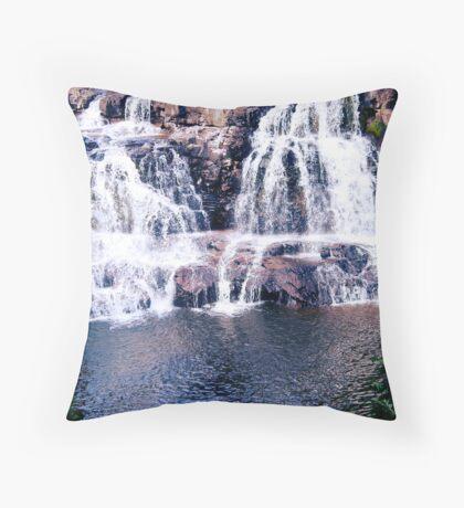 Soothing Water - Crashing into Below Throw Pillow