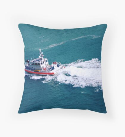 Coast Guard at the Ready Throw Pillow