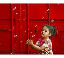 Bubbling girl  Photographic Print