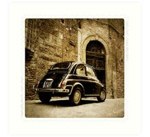 Fiat 500 in Lucca. Italy Art Print