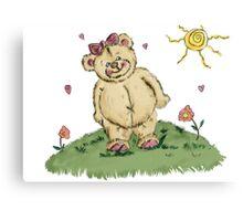 cuddly teddy Canvas Print