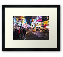 Only go out at night - Broadway Framed Print