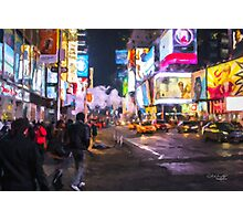 Only go out at night - Broadway Photographic Print