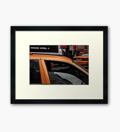Taxi, New York City Framed Print