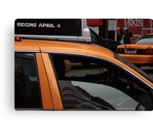 Taxi, New York City Canvas Print