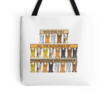 Happy Thanksgiving and Hanukkah. Tote Bag