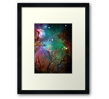Galactic Trees Framed Print