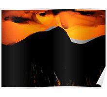 sun down... desert sky Poster