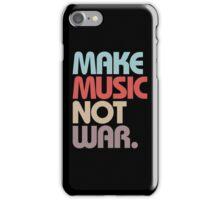 Make Music Not War (Vintage) iPhone Case/Skin