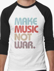 Make Music Not War (Vintage) Men's Baseball ¾ T-Shirt