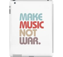 Make Music Not War (Vintage) iPad Case/Skin