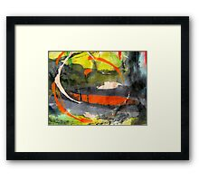 down in the valley.. Framed Print