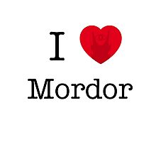 I LOVE MORDOR Photographic Print