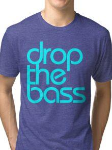 Drop The Bass (cyan) Tri-blend T-Shirt