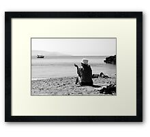 Sun, Sand and Smoke Framed Print