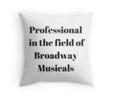 Broadway Musicals Throw Pillow