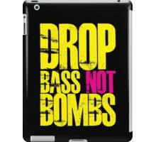 Drop Bass Not Bombs (Yellow)  iPad Case/Skin
