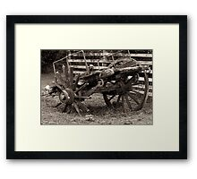 This Old Cart Framed Print