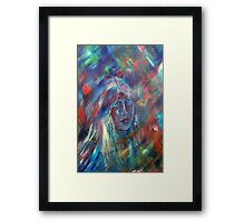 She Dreams in Color.... Framed Print