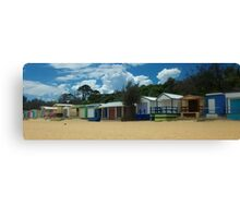 Beach Boxes-3 Canvas Print