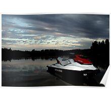 Jet-ski on the Lake Poster
