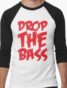 Drop The Bass (Red) Men's Baseball ¾ T-Shirt
