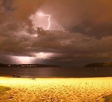 Lightning over Balmoral Beach by Dean Woodyatt