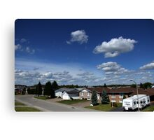 Clouds Over Suburbia Canvas Print