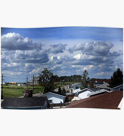 Clouds Over Suburbia II Poster