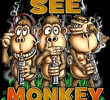 Monkey See Monkey Vape by LinkArtworks