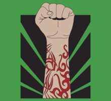 Fight the power, fist with tattoo Kids Clothes