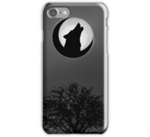 Howling Wolf In The Moon. iPhone Case/Skin
