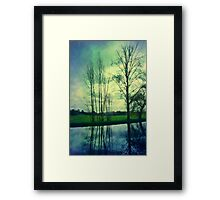 River Wey Reflections Framed Print