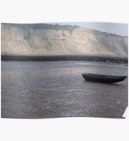 Small Boat on Beach Poster