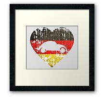 I Heart VW Beetles Framed Print