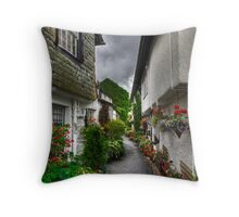 Portrait of a Hawkshead Alley Throw Pillow
