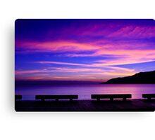 Skies of Blue & Violet - The Esplanade, Cairns Canvas Print