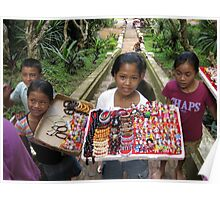 Young street vendors. Poster