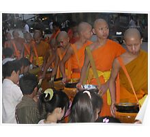 Monks receiving alms Poster