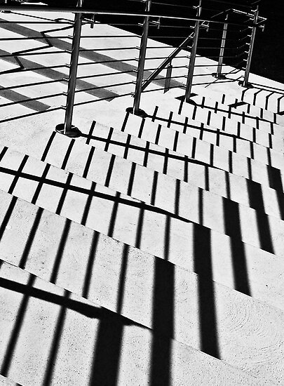 Shadows on Stairs by cclaude