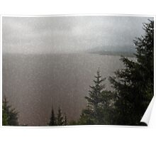 """Hopewell Rocks Bay of Funday """"Wet Window""""  Poster"""