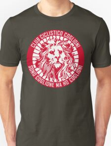 Club Ciclistico Coglioni: Monarch lion (red on white, large) T-Shirt