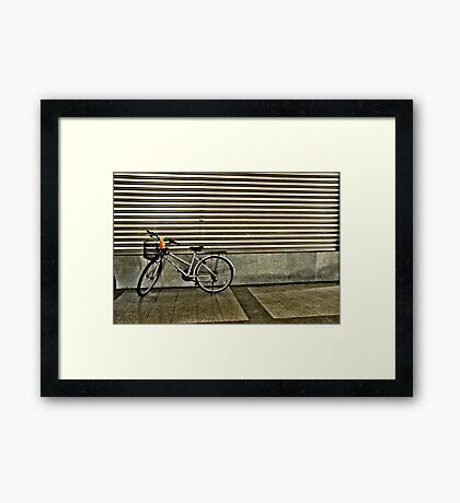 Stripe Bike Framed Print